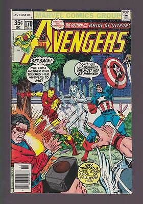 Avengers # 170  The Return of the Bride of Ultron !  grade 6.5 scarce book !