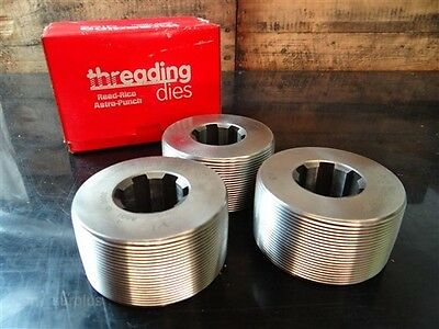 "New!!! Set Of 3 Reed Thread Rolling Dies 1/2""-14 Bspt"