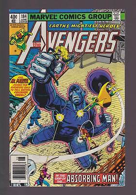 Avengers # 184  In the Grip of the Absorbing Man !  grade 9.0 scarce book !