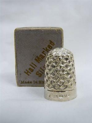 Antique Solid Silver Charles Horner Size 6 Thimble Chester 1907 Boxed