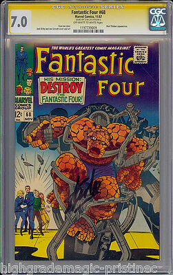 Fantastic Four #68 Cgc 7.0 Oww Ss Stan Lee Signed Sig Series Cgc #11977399009