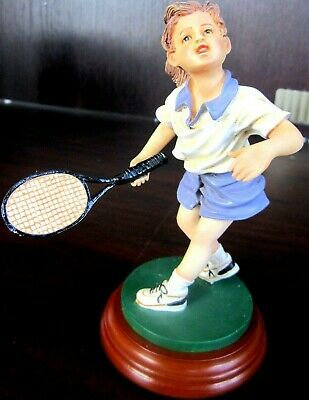 CHARACTER COLLECTIBLES Game Set Match YOUNG GIRL PLAYING TENNIS 25003 New