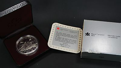 1989 Dollar Canadian Silver Proof Fleuve MacKenzie River Coin from Canada w/COA
