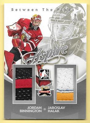 11/12 Between The Pipes Aspire Silver J Binnington & J Halak Dual Jersey SP/140