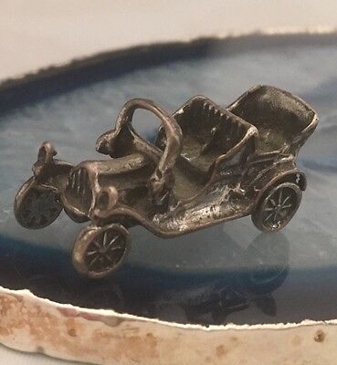 STUNNING Vintage Sterling Silver Miniature CAR AUTOMOBILE Dollhouse ITALY -L098