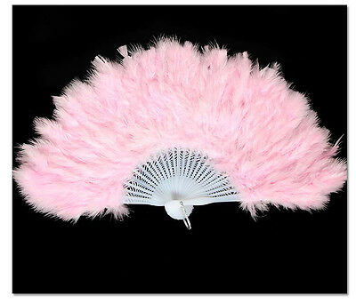 1PCS Halloween Party Dance Pink Feather Fan #92821