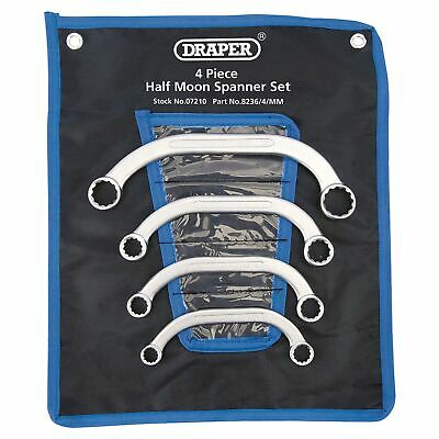 Draper 4 Piece Half Moon (Obstruction) Ring Spanner Set - 07210