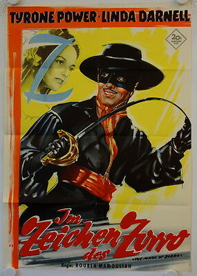 The Mark of Zorro re-release german movie poster