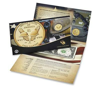 2016 American $1 Coin and Currency Set Code Talkers 0000XXXX  Low Serial Number!
