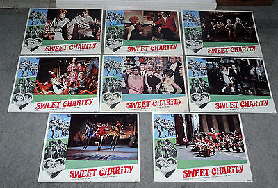 SWEET CHARITY orig lobby card set SHIRLEY MACLAINE/BOB FOSSE 11x14 movie posters