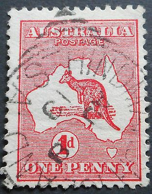 Australia 1913 1d Kangaroo with HINDMARSH ISLAND Sq Circle postmark