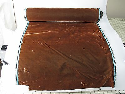 Antique French Millinery Velvet Fabric Cotton Silk Early 19 C Coffee Brown