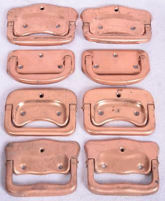 Vintage Copper Plated Door Drawer Handles Pulls Marked Stanley 1922