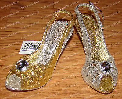 Gold & Silver High-Heeled Open Toe Shoe, Christmas Ornaments (Set of 2) D0726