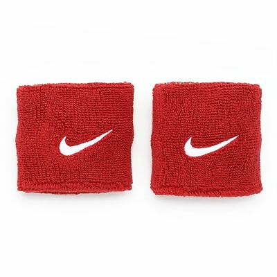 Nike Swoosh Wristbands in Red New in Package