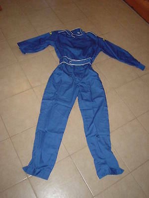 SABELT Racing  rally track tuta pro Mechanics Overall Suit,medium in blue.