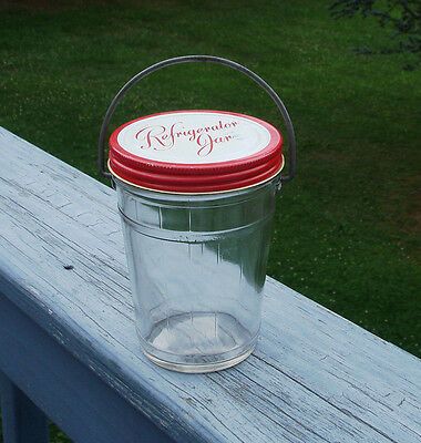 Vintage Refrigerator Jar With Handle