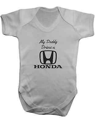 My Daddy Drives a Honda -Baby Vest-Baby Romper-Baby Bodysuit-100% Cotton