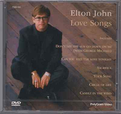 Promo only video DVD Elton John LOVE SONGS Japan DANIEL sacrifice NIKITA blueyes