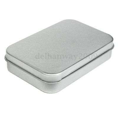 Survival Kit Mini Hinged Lid Tin Empty Storage Box Metal Case Money Coin Candy