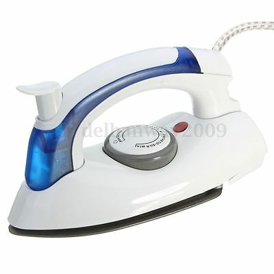 Foldable Folding Compact Steam Travel Iron mains Temperature Control Easy Glide