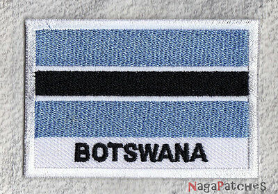 badge badge patch sew-on patch embroidered flag BOTSWANA 70/45 mm