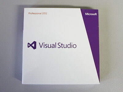 Microsoft Visual Studio 2012 Professional Vollversion, englisch - Retail-Box