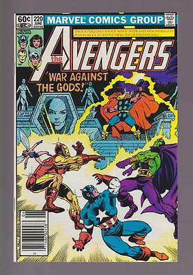 Avengers # 220  Moondragon vs  Drax the Destroyer !  grade 9.0 scarce book !