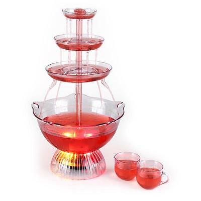 3 Litre Illuminated Electric Punch Bowl Fountain Party Cocktail Wine Champagne