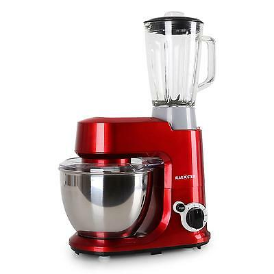New 800W Table Top Food Processor 4L Dough Mixer Hook Whisk 1.5L Stand Blender