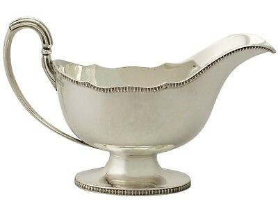 Antique George V Sterling Silver Gravy Boat