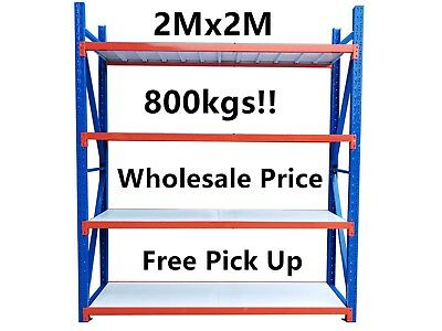 Brand New 2Mx2M! Garage Warehouse Steel Storage Shelving Shelves Racking