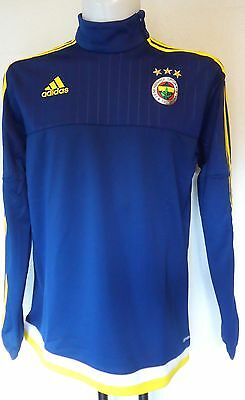 Fenerbahce 2015/16 Navy Training Top By Adidas Size Small Bnwt