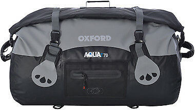 BLACK Oxford Motorcycle Aqua T70 All Weather 70L Waterproof Roll Top Bag Luggage