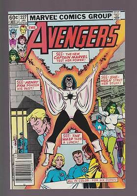 Avengers # 227  See : Captain Marvel test her Power !  grade 9.0 scarce book !