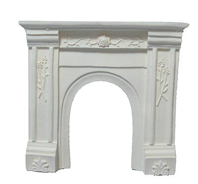 Dolls House 1/12 scale White Resin Fire Surround