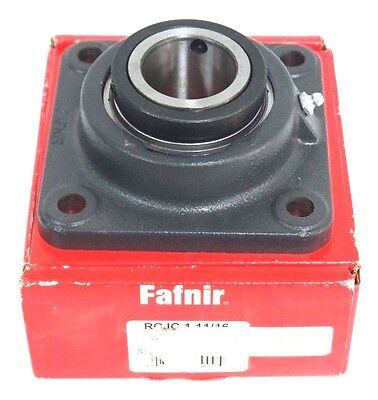 Nib Fafnir Rcjc 1 11/16 Industrial Duty Concentric Collar 4-Bolt Flange Bearing