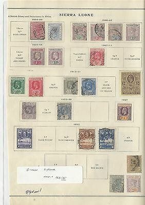 Sierra Leone Collection 1884 to 1932 on Scott International Page
