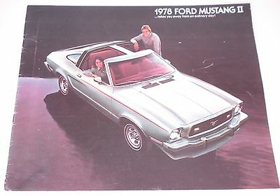1978 Ford Mustang II Dealer Brochure