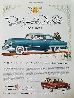 Collectibles 1948 Desoto Car Super Cushion Tires Features Original Ad