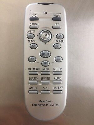 TOYOTA  SIENNA  Rear Entertainment DVD System Remote Control 86170 45020 OEM