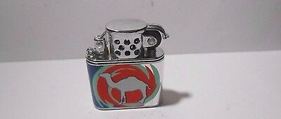 Retro Camel Cigarettes Chrome Trench Type Fluid Advertising Lighter - Un-Fired