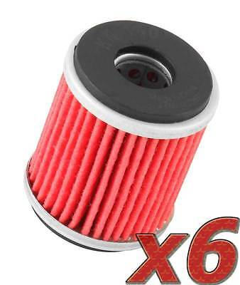 6 Pack: Oil Filter K&N KN-140 (6) for Motorcycle Applications
