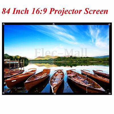 """Portable 84"""" Inch 16:9 Fabric Matte Projector Projection Screen To HD Projector"""