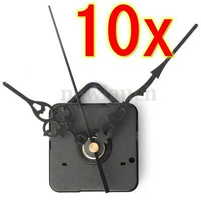 10 x DIY Quartz Clock Black Hands Silent Wall Movement Mechanism Repair Kits