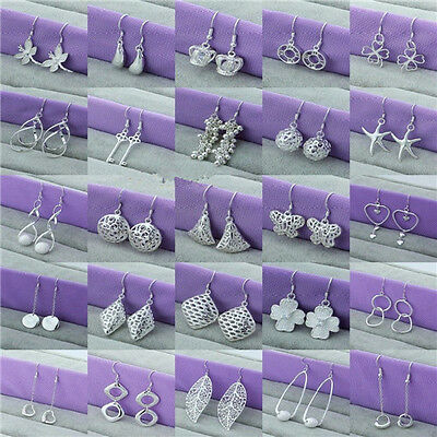 Wholesale New Fashion Jewelry 925Sterling Silver Dangle/Stud Earrings XAMS GIFT