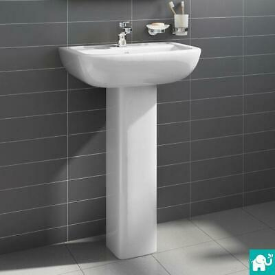 Modern Bathroom Suite Two Piece Short Projection Toilet Basin Sink Close Coupled