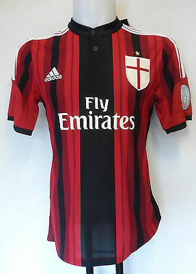 Ac Milan 2014/15 Ucl Home Shirt By Adidas Adults Size Large Brand New
