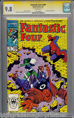 Fantastic Four #299 Cgc 9.8 White Ss Stan Lee Signed Single Highest #1191203015