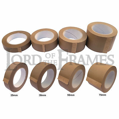 25mm 38mm 50mm 75mm x 50m Rolls Eco 15 Tape Picture Framing Backing Kraft Paper